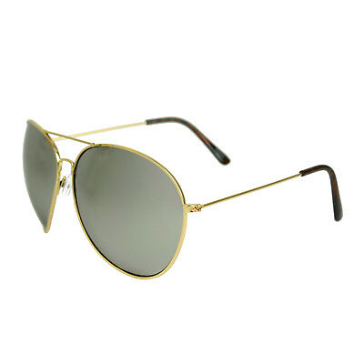 Oversized Aviator Sunglasses Mirror Lenses Gold Black Frame Mirrored Axl Rose XL