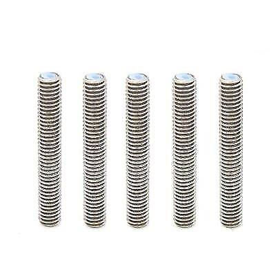 Anycubic 5PCS Barrel M6 X 50 Nozzle Throat with PTFE Tube for 1.75mm Filament
