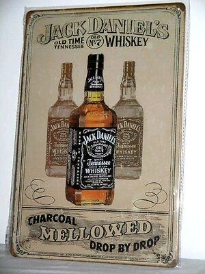 Jack Daniel's Old Time Tennessee Whiskey Charcoal Mellowed Drop By Drop Sign