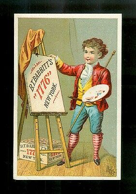 Artist Unveils His Creation-1880s Victorian Trade Card-Soap