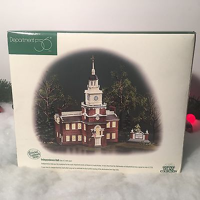 New Department 56 Heritage Village Collection Independence Hall #55500 Set Of 2