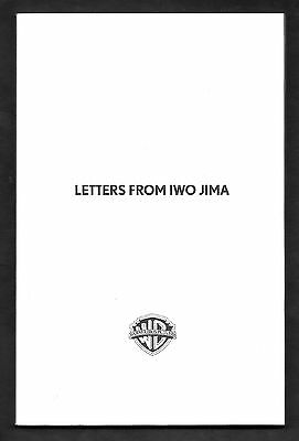 LETTERS FROM IWO JIMA Clint Eastwood ACADEMY AWARDS SCREENPLAY SCRIPT BOOK