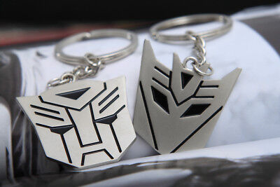 Metal Transformers Autobot & Decepticon Symbol Keychain [ONE PAIR] cosplay