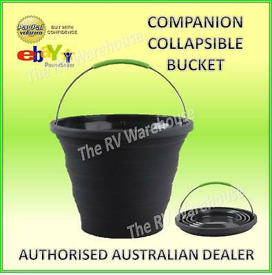 COMPANION 10 L Black/Grey COLLAPSIBLE BUCKET - Caravan, Camping. boat accessorie