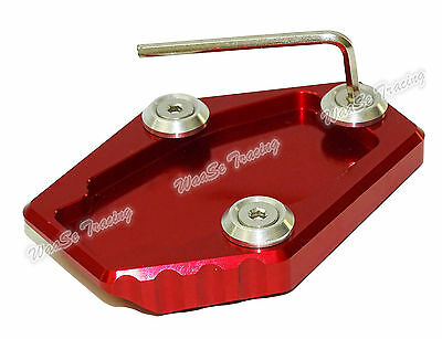 Kickstand Side Stand Enlarger Plate Red For DUCATI Monster 795 796 821 1200/S AU