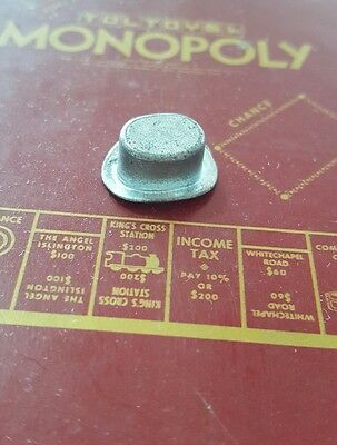 Monopoly diecast game token HAT  Vintage Retro