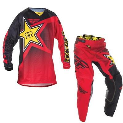 3d760b01bd65 FLY RACING KINETIC ROCKSTAR Energy MTB Jersey und Hose - rot Motocross  Enduro