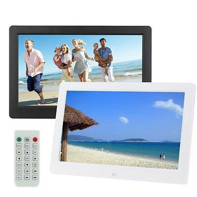 "10.1"" HD Digital Photo Picture Frame Alarm Clock MP4 Player + Remote Control BT"