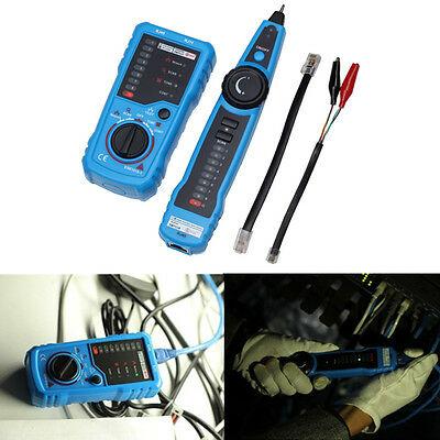 New Network LAN Cable Tester RJ45 RJ11 Wire Tracker Tracer Network Test Kit
