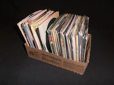 Vinyl records 45 RPM country western genre 124 total mostly with sleeves