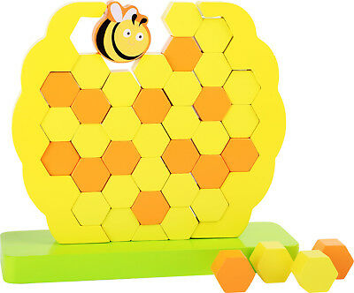 Shaking tower Bee hive Wood Stacking game Skill Concentration from 3 j