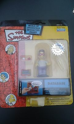 Simpsons Database Intelli-tronic Interactive Action Figure WOS MOC