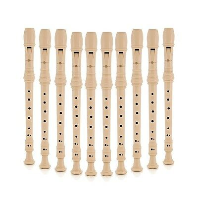 Descant Recorder with Cleaning Rod Pack of 10