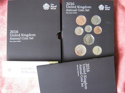 2016 Royal Mint United Kingdom  annual coin colection year set