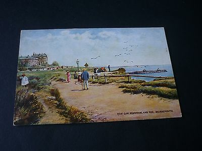 West Cliff Promenade, and Pier, BOURNEMOUTH, Tuck Oilette 6190