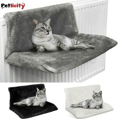 Cat Dog Radiator Bed Warm Faux Fur Beds Basket Cradle Hammock Animal Puppy Pet