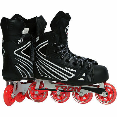 NEW! Tron S20 Inline Roller Hockey Skates - Size Jr 4 - Same as Bauer/Mission