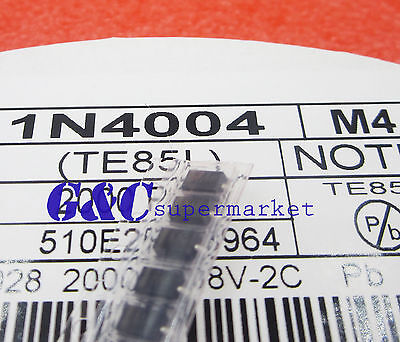 500PCS LL4004 M4 1N4004 DO-214 SMD 1A 400V Rectifier Diodes