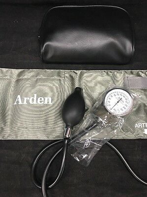 ARDEN Sphygmomanometer Aneroid Adult Blood Pressure Cuff And Case NEW MINT