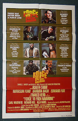 Force 10 From Navarone 1978 Original Advance 1 Sheet Movie Poster Harrison Ford