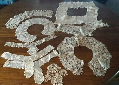 Antique Crochet Lace Collars & More