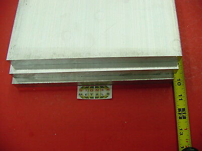 """3 Pieces 3/4"""" X 10"""" ALUMINUM 6061 FLAT BAR 10"""" long Solid T6511 Plate Mill Stock"""