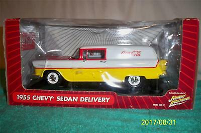 Johnny Lightning Coca Cola 1955 Chevy Sedan Delivery 1/18 scale Mint in box 8+