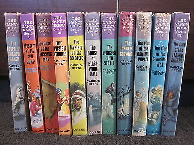 Bulk Lot of 22 x NANCY DREW Books by Carolyn Keene Vintage Collins Hardcovers