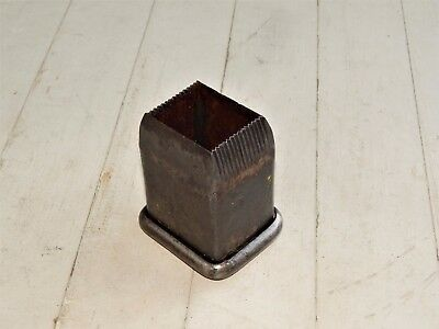 "LARGE 1-3/4"" x 2"" RECTANGULAR LEATHER OR WADD PUNCH CUTTER"