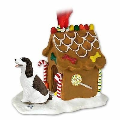 Springer Spaniel Liver Dog Ginger Bread Gingerbread House Christmas ORNAMENT
