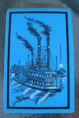 Vintage Queen River Paddle Steam Boat Deck Of Playing Cards New Sealed