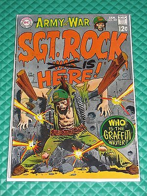Sgt Rock #201 Higher Mid-Grade Silver Age DC War Comic Our Army At War Kubert