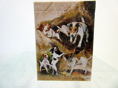One Single Dog Optical Art Photo Playing Card JACK RUSSELL TERRIER Artlist