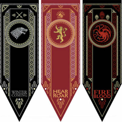 Game of Thrones Flags HBO TV Show Banner Stark Tournament Wall Home Decor19x60in