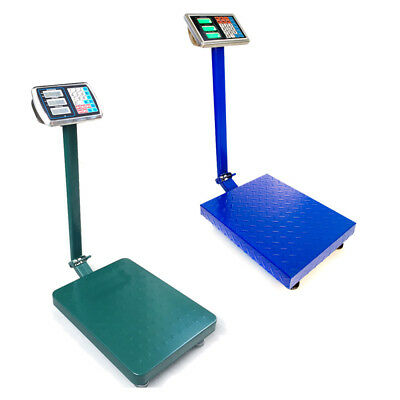 660lbs Weight Computing Digital Floor Platform Scale Postal Shipping Green/Blue