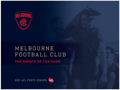 AFL 2017 Melbourne Football Club footy stamps