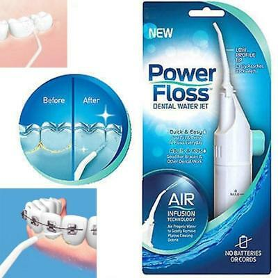 Useful Power Floss Dental Water Jet on TV Cords Tooth Pick Braces NO Battery AU