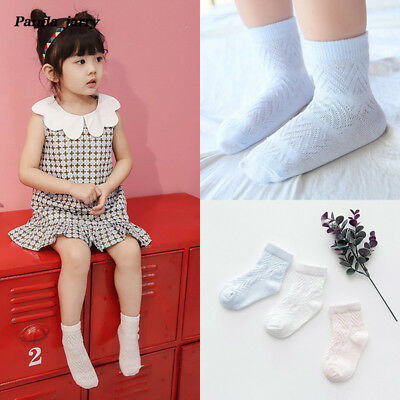 kawaii Wave Breathable Short Socks 3 Pairs Girls Kid Anti-slip Cotton Baby Socks