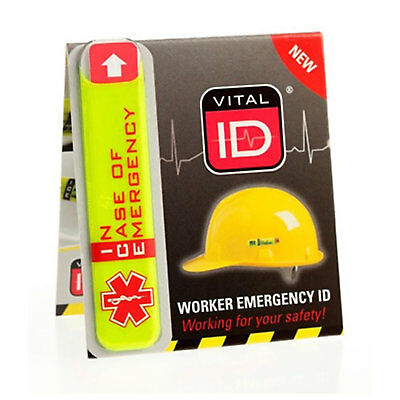 Vital ID Emergency ICE Standard Medical Info Sticker Tag for Safety Helmet Hat