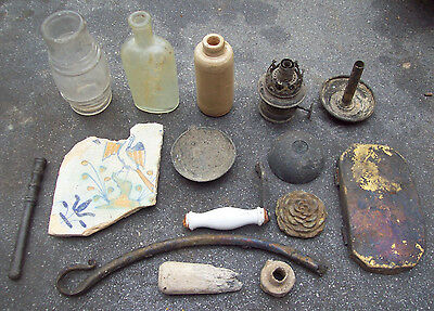 Dug Lot Dump Digging And Metal Detecting Finds 1600's And Later.