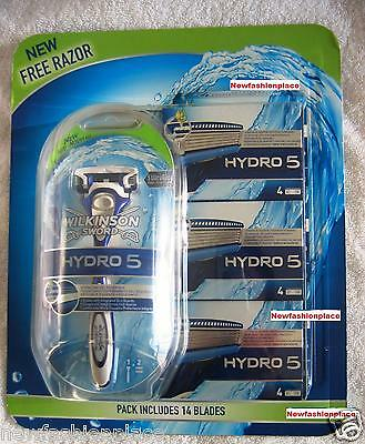 NEW Sealed WILKINSON SWORD HYDRO 5 RAZOR + 14 BLADES CHEAPEST