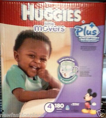 Huggies Snug & Dry Plus Nappies SIZE 4 - 180