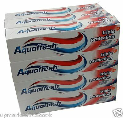 Brand New Aquafresh Toothpaste Triple Protection 100 ml (Pack of 12) by GSK