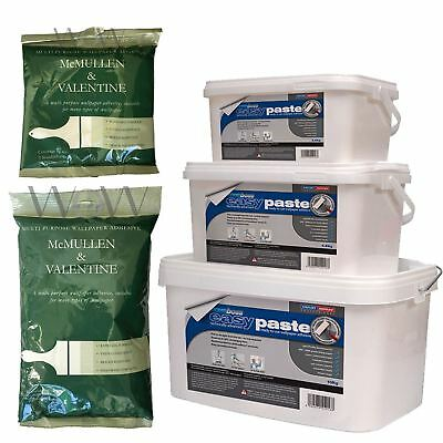 Wallpaper Adhesive Paste - Easy To Mix Packet 5 /10 Rolls & Ready To Use 2.5 Tub