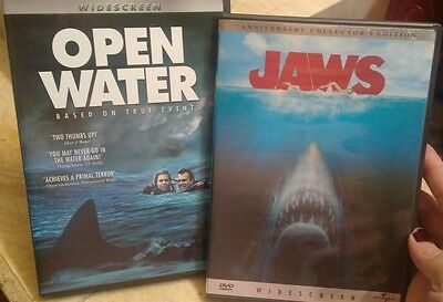 Jaws and Open Water.  Lot of 2 shark movies!!