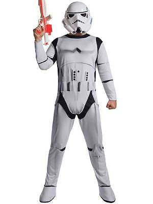 Adult Stormtrooper Star Wars Mens Fancy Dress Storm Trooper Jumpsuit Costume BN