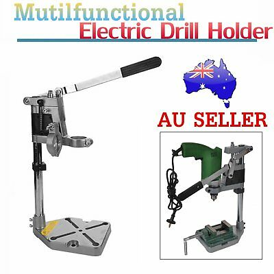 Aluminum Bench Electric Drill Holder Stand  2 Clamp Base Frame Accessory OZ