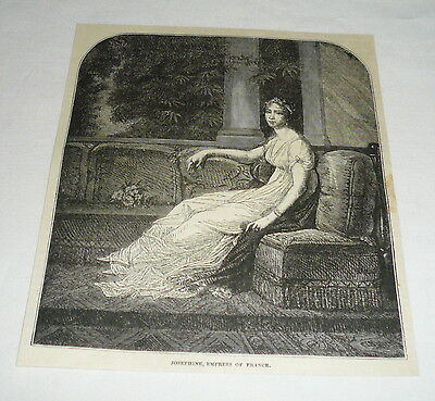 1878 magazine engraving ~ JOSEPHINE, EMPRESS OF FRANCE