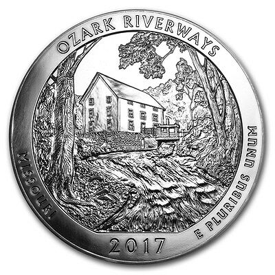 2017 ATB Ozark National Scenic Riverways America The Beautiful 5oz Silver Coin