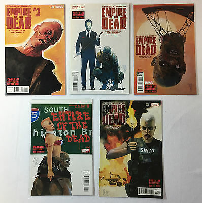 Marvel George Romero EMPIRE OF THE DEAD Act One comics #1 2 3 4 5~ FULL SET #1-5